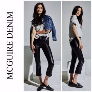 McGuire Cropped Gainsbourg Vegan Leather Paints